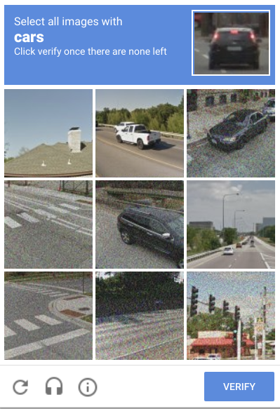 Google is probably using Adversarial Noise for ReCaptcha