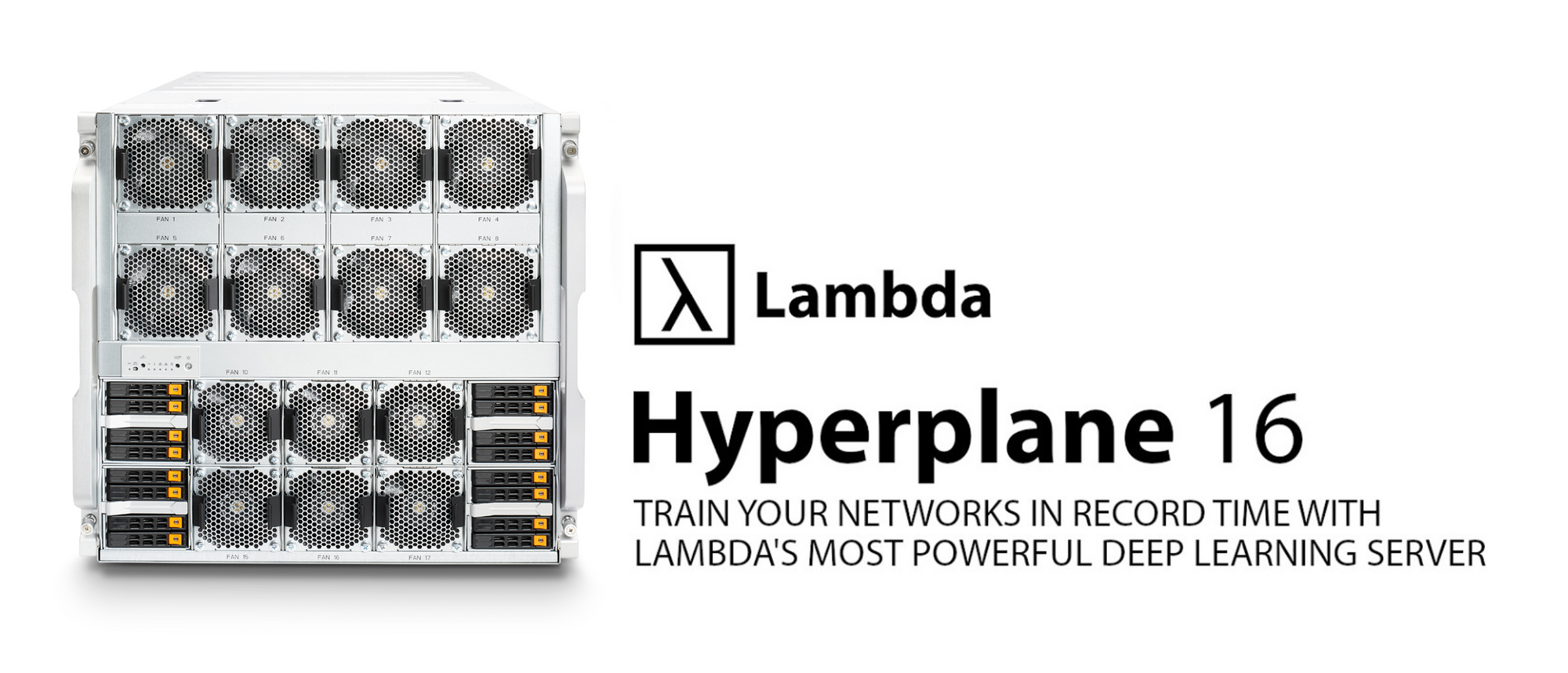 Header image: Train you networks in record time with Lambda's most powerful deep learning server.